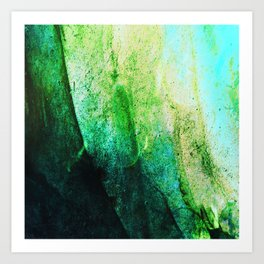 STORMY MINT AND GREEN v2 Art Print
