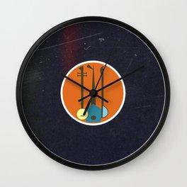 Vinyl Record Art & Design | Mid-Century Modern Musical Instruments 1.1 Orange Wall Clock
