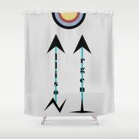 allison argent Shower Curtains featuring Allison Argent by Ana Sánchez