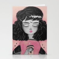 loll3 Stationery Cards featuring Beverly by lOll3