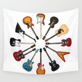 Guitar Circle Wall Tapestry