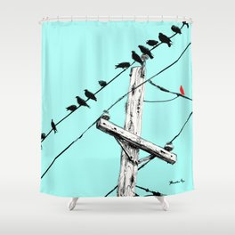 Brooke Figer - Assimilate Shower Curtain