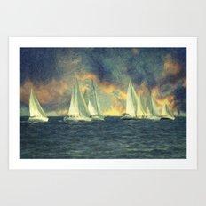 Regatta Art Print