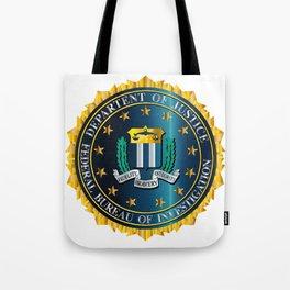 FBI Seal Mockup Tote Bag
