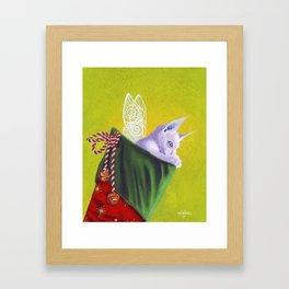 Magical Christmas wish Framed Art Print