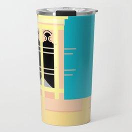 Wind-towers of Bastakiya by Dubai Doodles 002 Travel Mug