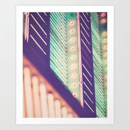 Turquoise Neon Art Print