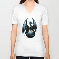 dragon ball V-neck T-shirts featuring dragon by Antracit