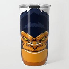 angry ape gorilla face Travel Mug
