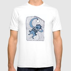 laziness White Mens Fitted Tee SMALL
