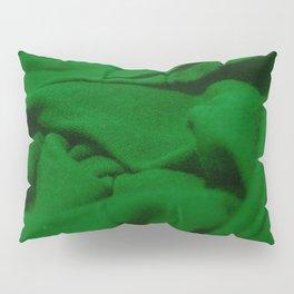 Green Velvet Dune Textile Folds Concept Photography Pillow Sham