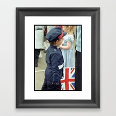 Patriotic Little Man!  Framed Art Print