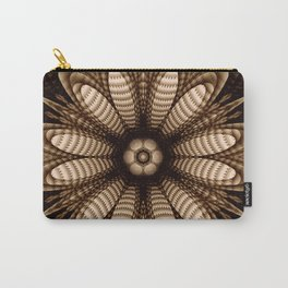 Abstract flower mandala with geometric texture Carry-All Pouch
