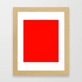 Candy Apple Red - solid color Framed Art Print