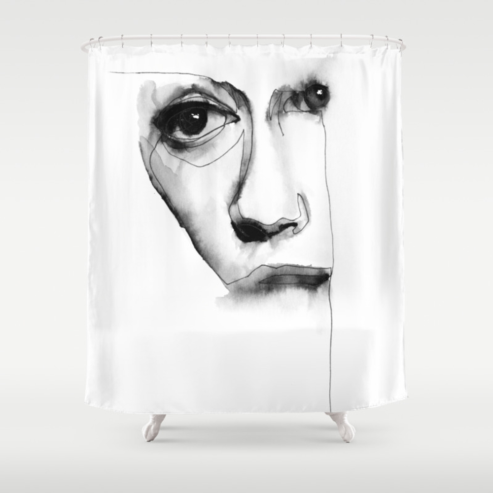 Torn Face Shower Curtain by Wernersketches CTN7801260