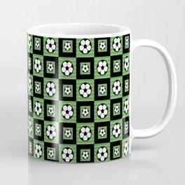 Soccer Motif Pattern Coffee Mug