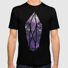 Amethyst Gem Dreams Black Mens Fitted Tee MEDIUM