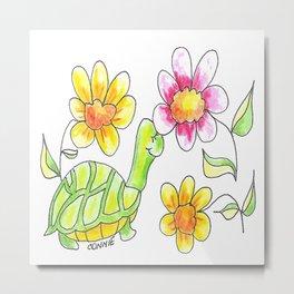 Turtle Love Metal Print