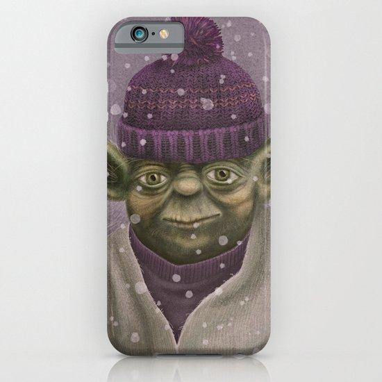 Christmas Yoda (fiolet) iPhone & iPod Case