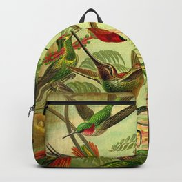 HUMMINGBIRD COLLAGE- Ernst Haeckel Backpack