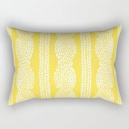 Cable Row Yellow Rectangular Pillow
