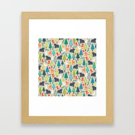 summer woodland Framed Art Print