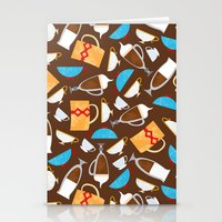 coffe Stationery Cards featuring Cup of coffe? by Olga  Varlamova
