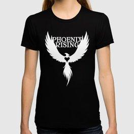 PHOENIX RISING white with heart center T-shirt