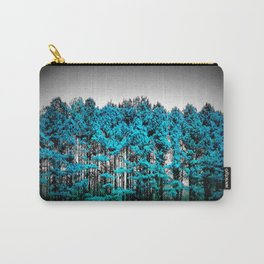 Turquoise Trees Gray Sky Carry-All Pouch