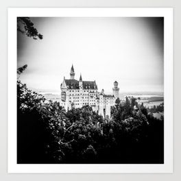 Neuschwanstein Castle from the Bridge Art Print