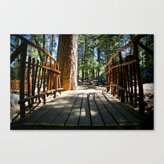 Camp Bridge Canvas Print