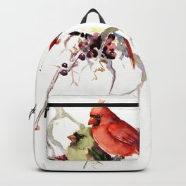 Cardinal Birds, birds art, two bird artwork cardinal bird Backpack