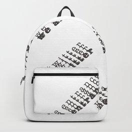 we are entranced ~ social media Backpack