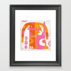 DOUBLE BUNNY Framed Art Print