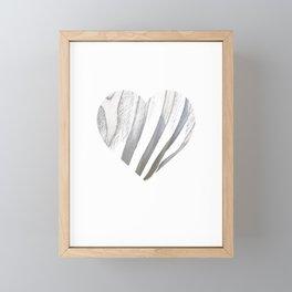 Zebra Heart Funny Stripes Symbol African Animal Lover Gift Humor Framed Mini Art Print