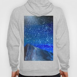 Moon Rising as an orange dot in the Great Sand Dunes National Park, USA travel Hoody