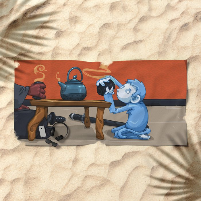 Tea for Two Beach Towel