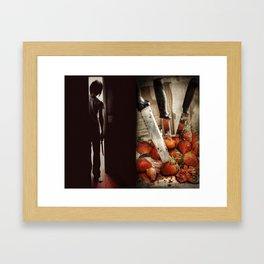 Strawberry Massacre Framed Art Print