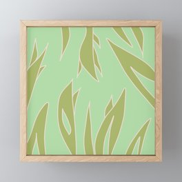Green foliage Framed Mini Art Print