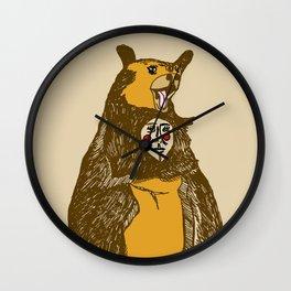 Bear Man Wall Clock