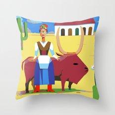 Que Pasa Senorita, I Am El Fugitivo Throw Pillow