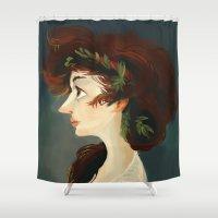 lady Shower Curtains featuring Lady by Yolanda martinez