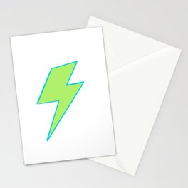 Bolt- Lime Green Stationery Cards
