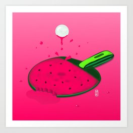 Pongermelon Art Print