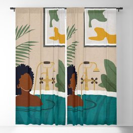 Stay Home No. 2 Blackout Curtain