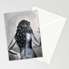 Blanco y Negro Compañera de Cuarto Stationery Cards