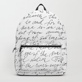 Script Text Book Page Letter Backpack