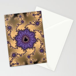 Elegant Purple Mandelbrot Fractal Print Stationery Cards