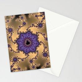 Elegant Purple Mandelbrot Fractal Print Stationery Cards