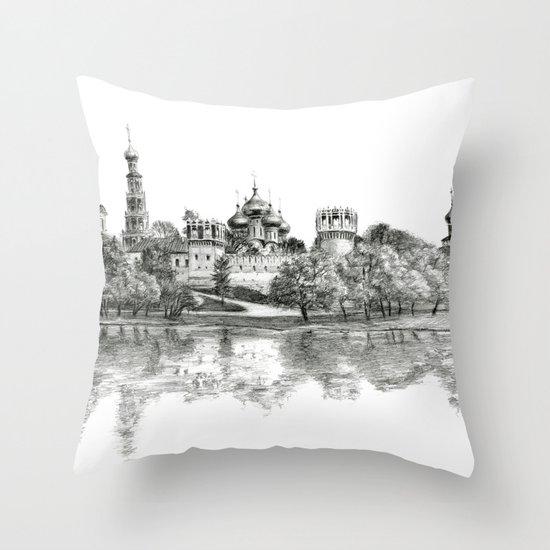 Novodevichy Convent G2010-005 Throw Pillow